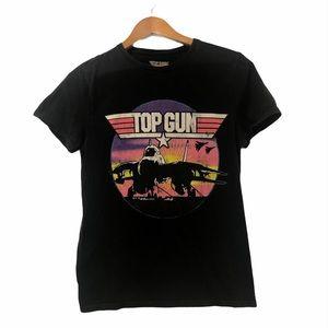 Top Gun Graphic T-Shirt Black/Pink Medium